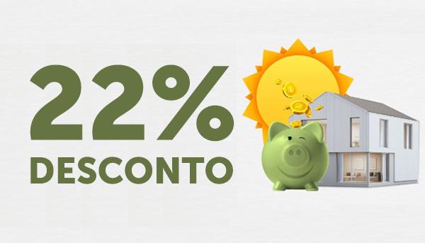 22% de desconto na energia elétrica